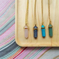 Looking Sharp Pendant Necklace // Elizabeth Volk Design $78