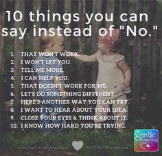 """10 Things You Can Say I stead of """"No"""""""