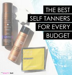 The Best Self Tanning Products for Every Budget- thanks to this pin, I found my new holy grail self tanner! No streaks or orange skin. And it's only $12!! Must-pin for any ladies who want glowing skin without the sun damage!