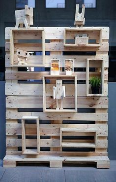 Build Household Items with Reused Shipping Pallets: Pallet wood can also be used to build a variety of items apart form normal household requirements, items of Pallet Display, Pallet Wall Shelves, Wood Wall Shelf, Wood Shelves, Pallet Cabinet, Recycled Pallets, Wood Pallets, Pallet Wood, Pallet Benches