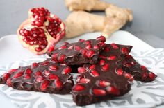 Eat Your Way to Clear, Healthy Skin: Chocolate, Pomegranate, Ginger Bark #skincare #health #wellness
