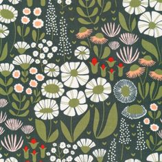 138514 Tiny Dancer Corduroy from Floratopia by Elizabeth Olwen for Cloud9 Fabrics