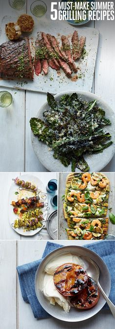 4 DELICIOUS FOODS YOU CAN GRILL (THAT AREN'T STEAK!)  grilled vegetables grilled kale salad grilled shrimp pizza grilled fruit   COOKOUT,GRILL,GRILLING,ICE CREAM,KEBABS,PIZZA,SALAD,STEAK,SUMMER RECIPES