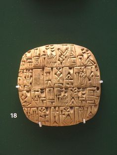 Sumerian Cuneiform circa 2500 BC. Clay tablet with summary account of silver for the governor. From Shuruppak or Abu Salabikh, Iraq, circa 2,500 BCE. British Museum, London. BM 15826 In 3500 BC the Sumerians had a well developed writing system. Possibly the first writing system. Initial over 2000 symbols, pictograms and drawings were used.