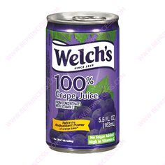 Welch's Single Serve Purple Grape Juice Can, 4 CT (Pack of Welch Juice, Welch Grape Juice, V8 Juice, Kid Drinks, Beverages, Fanta Can, New Flavour, Gourmet Recipes, The 100