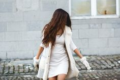 9a0b3dd99e7780 All-white outfit with faux-shearling  riverisland gilet