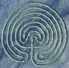 Finger Labyrinth.  Tracing the path in the labyrinth can be relaxing.  It also can be balancing as you journey back and forth the the center.
