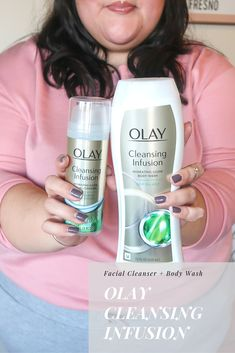 New skincare for 2018! @OlayUS Cleansing Infusion facial cleanser and body wash with Dead Sea Kelp & Aloe Extract. Get the collection at Wal-Mart. #ad #GlowUp #Olay
