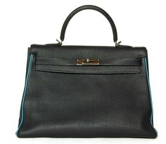 Hermes 32CM Blue Indigo Togo Leather Kelly Bag. Click through to view this item at A Second Chance #nyfw #mbfw #streetstyle #authentic #hermes #kelly #kellybag #hermeskelly #custom #exclusive #limited #limitededition #hardtofind #musthave #frontrow