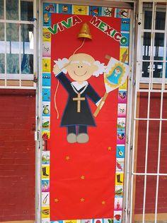 Classroom Charts, School Doors, Class Decoration, Spanish Classroom, Ideas Para, September, Ornaments, Education, Holiday Decor