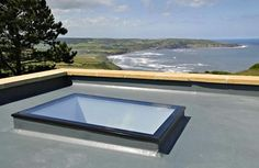 Our fixed flat rooflights are triple glazed with toughened, self-cleaning glass. Built-in insulated upstand included FREE! Skylight Glass, Glass Ceiling, Flat Roof Skylights, Roof Extension, Extension Ideas, Radiant Barrier, Roof Lantern, Roof Light, House Extensions