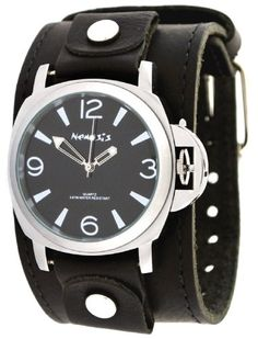 Nemesis LBB054K Mens Premium Wide Leather Strap Retro Diver Watch -- Find out more about the great product at the image link. (This is an Amazon affiliate link)