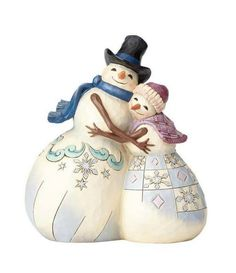 Information Online Enesco Jim Shore Heartwood Creek Snowman Couple Hugging Christmas Figurines, Christmas Tree Ornaments, Christmas Decorations, Jim Shore Christmas, Christmas Fun, Holiday Fun, Holiday Ideas, Biscuit, Collectible Figurines
