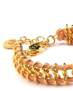 CHAIN AND CORD BRACELET