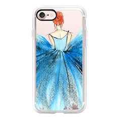 Blue Tutu Dancer - iPhone 7 Case, iPhone 7 Plus Case, iPhone 7 Cover,... (222720 PYG) ❤ liked on Polyvore featuring accessories, tech accessories, iphone case, apple iphone cases, iphone cover case, blue iphone case, slim iphone case and iphone cases