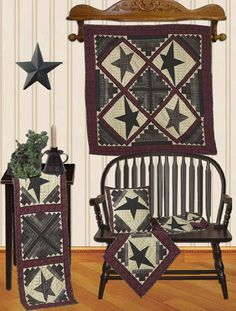 Cabin Star Quilts | Choices Quilts offers Cabin Star Quilts handmade for you! You can shop online or call us toll-free @ 1-800-572-2070 or 770-641-9700.
