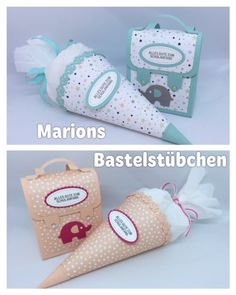 "Marions Bastelstübchen: Video tutorial: small school bag made of designer paper "". - Marions Bastelstübchen: Video tutorial: small school bag made of designer paper ""Sternenhimmel"" - Diy Bag Crafts, Paper Bag Crafts, Diy Paper, Diy Bags, Crafts For Kids, Diy Beauty Organizer, Kindergarten Architecture, Diy Bag Designs, Small School Bags"