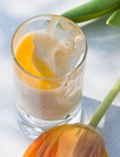 Joghurt Honig Panna Cotta mit Maracuja Sauce