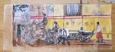 Mixed 채색화ㆍ먹 on korean paper #oilpainting #pendrawing #storytelling #streetart #urbansketch #dailydrawing #cityalleys  #photographydrawing #oilpastel
