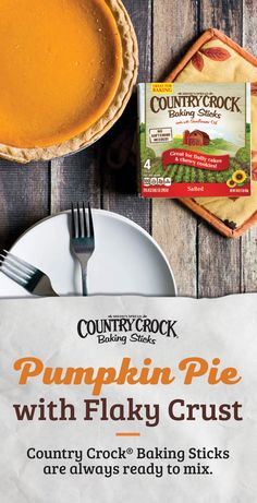 Reinvent your Pumpkin Pie recipe with Country Crock Baking Sticks. Made with sunflower oil, they have a soft and creamy texture that mixes easily into your pie filling or pie crust – straight out of the refrigerator. Use Country Crock Baking Sticks instea Great Desserts, Fall Desserts, Delicious Desserts, Dessert Recipes, Yummy Food, Thanksgiving Recipes, Fall Recipes, Holiday Recipes, Christmas Recipes