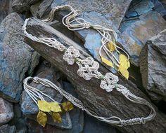 Bespoke triple Celtic Love-Knot Handfasting Cord/Ribbon/Rope with Gold leaves Pagan Wedding, Irish Wedding, Wedding Belts, Diy Wedding, Whimsical Wedding, Garden Wedding, Wedding Ceremony, Wedding Stuff, Wedding Dress