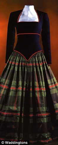 Scottish Dancing Ball Gown c. 1991--worn by Diana, Princess of Wales