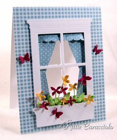 Spring Window and Flower Box by kittie747 - Cards and Paper Crafts at Splitcoaststampers
