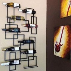 Your wine cellar should have strong and long-lasting floors. Usually, wine cellars can be utilised to prevent damaging temperature changes, but very f. Wine Bottle Rack, Wine Rack Wall, Bottle Wall, Wall Mounted Wine Racks, Wine Wall Decor, Wine Bottles, Wine Rack Inspiration, Wine Stand, Wine Display