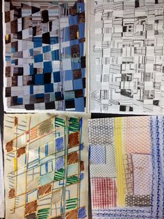 More responses to photo weave, crayon and transfer. Sketchbook development year 8