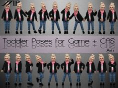 Toddler set 1 includes 20 poses. For CAS and for In Game play.  Found in TSR Category 'Sims 4 Mods'