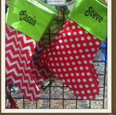Chevron Christmas Stockings complete with by AWomansWishList, $20.00