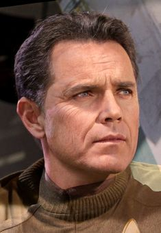 """Jeffrey Hunter and Bruce Greenwood as Pike 