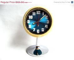 ON SALE JAZ  French Vintage Tulip Alarm Clock  by Lunartics, €52.00
