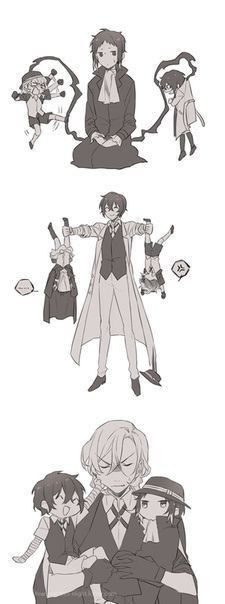 Bungou Stray dogs -akutagawa, Dazai y chuuya Anime Love, Anime Guys, Manga Anime, Anime Art, Dazai Bungou Stray Dogs, Stray Dogs Anime, Bungou Stray Dogs Atsushi, Chibi, 4 Wallpaper