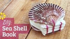 DIY Sea Shell Watercolor Book: Coptic Stitch (How to Make), via YouTube. By SeaLemonDIY