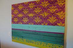 Sari Silk Wall Hanging/Headboard 48 x 36 by WoodburyCreek on Etsy