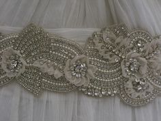 Jewelled bridal belt or crystal sash - 29 inches - Gorgeous
