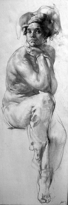"Harlequin"" 120x40 cm, pencil on paper. 2006  http://academart.com/zoom/Blokhin/CIMG3305.jpg"