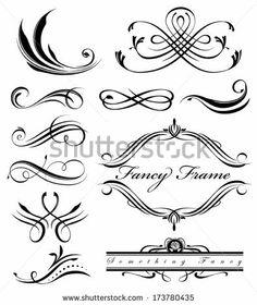 Black fancy swirl lines by Robles Designery, via Shutterstock