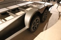 Trailer Update - Out of the oven! - Engineered to Slide Work Trailer, Trailer Plans, Trailer Build, Utility Trailer, Car Hauler Trailer, Trailers, Vw Camper, Cars And Motorcycles, Antique Cars