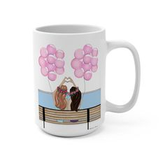 ***Note, gift notes cannot be included with mugs;**** Check out our new Mugs and Totes section! Your favorite art now on chic accessories! Birthday Gifts For Best Friend, Best Friend Gifts, Gifts For Friends, Roommate Gifts, Sister Gifts, Dorm Door Decorations, Too Much Coffee, Sorority Gifts, Friendship Gifts