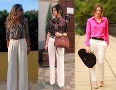 calças modernas femininas e estampadas - Pesquisa Google