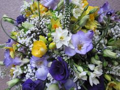 we like all of the flowers in this one.not sure what all they are, (we like Iris, peony, paper whites, hyacineth) Funeral Flowers, Wedding Flowers, Spring Wedding Inspiration, My Flower, Spring Flowers, Peony, Tulips, Iris, Flower Arrangements