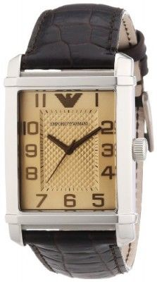 6e5cf321e90 Relógio Emporio Armani Brown Leather Strap Mens Watch AR0489  Relogios   EmporioArmani