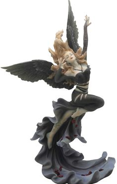 Gothic Angel with Rose Petals  Art Statue Sculpture Figurine Statuary available at AllSculptures.com