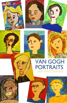 Van Gogh Portraits 3rd grade student gallery by Deep Space Sparkle