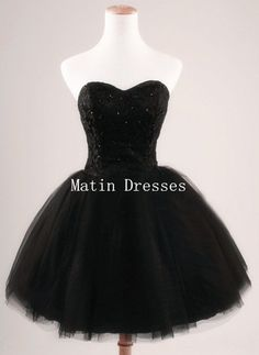 Ball Gown Black Short Mini Prom Dresses Short by MatinDresses, $124.99