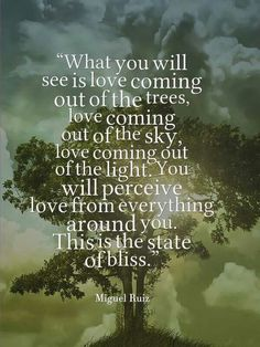 You will perceive love from everything around you. This is the state of bliss.