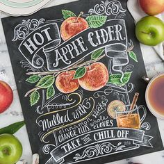 Hot Apple Cider - Print #Coffee #Cooking #Fall