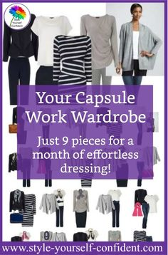 Just how far can a Capsule Work Wardrobe go? 9 items for a simple working wardrobe means a month of effortless dressing!